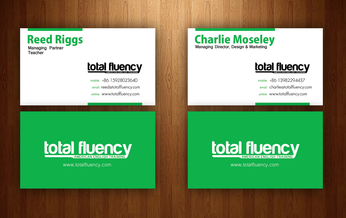 Total fluency business cards colourmoves Choice Image