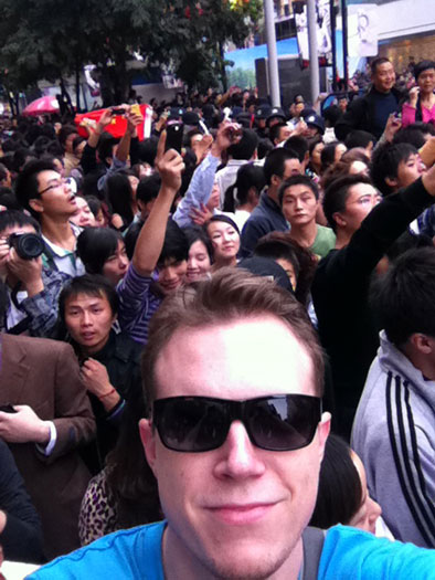 me at Chengdu protest