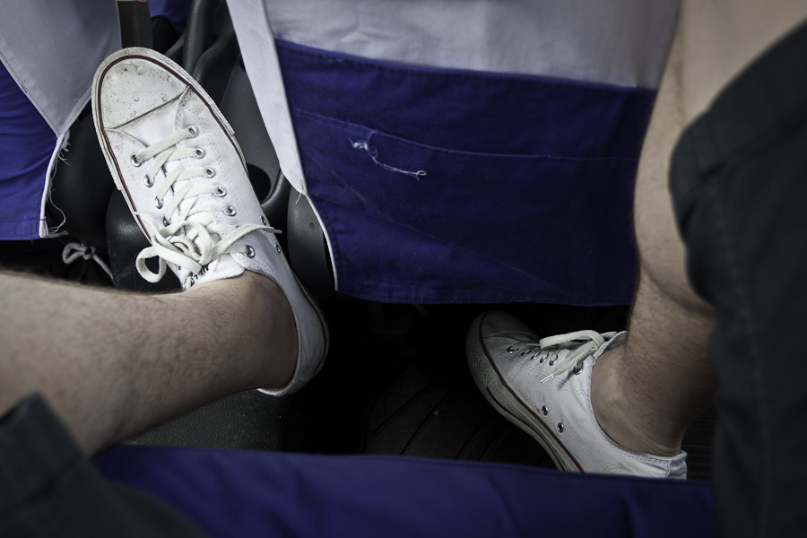 Feet in Taxi
