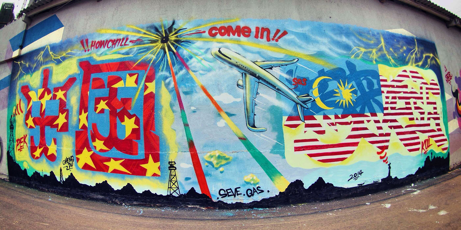 MH370 Graffiti