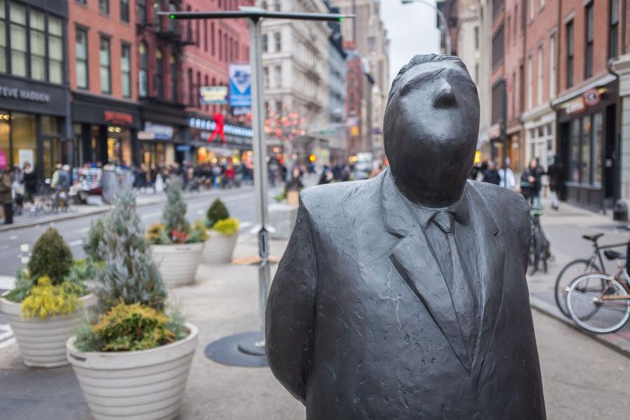 Banker Statue