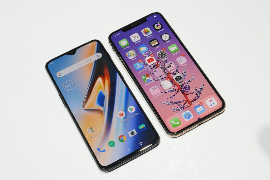 OnePlus 6T and iPhone XS Max